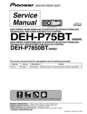 Buy Pioneer DEH-P7850BT-1 Service Manual by download Mauritron #233656
