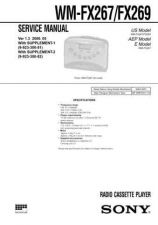 Buy Sony WM-FX267FX269 Service Manual. by download Mauritron #245768