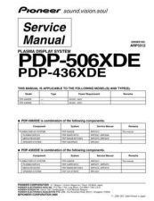 Buy Pioneer PDP-436RXE-YVIXK51[1] (3) Service Manual by download Mauritron #235101