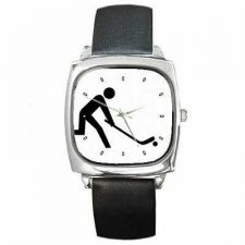 Buy Floor Hockey Unisex Square New Wrist Watch
