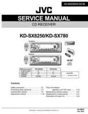 Buy JVC KD-SX780 SERVICE MANUAL by download Mauritron #220431
