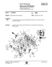 Buy Sony TCWR445 Service Supplement 4 Mauritron by download Mauritron #229903
