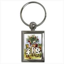 Buy Alice In Wonderland Key Chain Keychain Painting The Roses Red Art