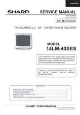 Buy Sharp 14LM40SES (1) Service Manual by download Mauritron #207353