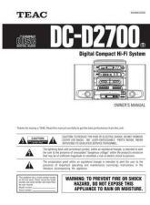 Buy Teac DC-D2700T(E) Service Manual by download Mauritron #223652