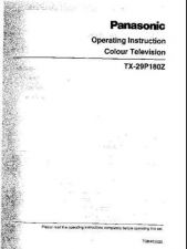 Buy Panasonic TX29P180Z Operating Instruction Book by download Mauritron #236603