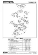 Buy Scalextrix No.357 Renault F1 Service Sheets by download Mauritron #206480