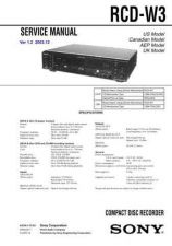 Buy Sony RCD-W50C Technical Information by download Mauritron #235805