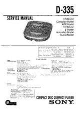 Buy Sony D-265-365 Service Manual by download Mauritron #239423