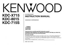Buy Kenwood KDC-X717 Operating Guide by download Mauritron #219117