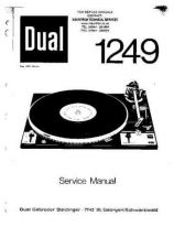 Buy DUAL 1249 SERVICE MANU by download #108050