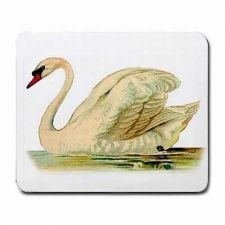 Buy White Swan Bird Art Desktop Computer Mousepad Mouse Pad