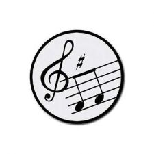 Buy Music Notes Treble Clef Set Of 4 Round Rubber Drink Coasters