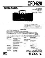 Buy Sony CFD-530 Service Manual by download Mauritron #238725