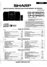 Buy Sharp CDQ10G-CPQ10H -DE-FR(1) Service Manual by download Mauritron #208656