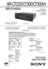 Buy SONY XR-C9100R Technical Info by download #105377