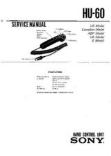 Buy Sony hu-60 Service Manual by download Mauritron #241416