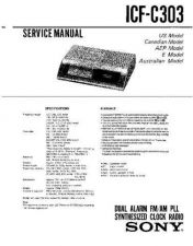 Buy Sony icf-c303 Service Manual. by download Mauritron #241546