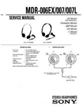 Buy Sony MDR-007EX-007MK2 Service Manual. by download Mauritron #242464