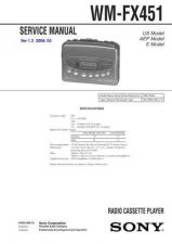 Buy Sony WM-FX445 Service Manual. by download Mauritron #245817