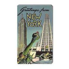 Buy Greetings From New York Retro Travel Art Souvenir Vinyl Magnet