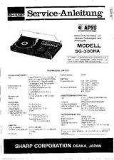 Buy Sharp SG330HA SM DE(1) Service Manual by download Mauritron #210599