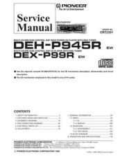 Buy Pioneer DEX-P99R-1 Service Manual by download Mauritron #233933