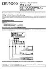 Buy Kenwood VR-716 Operating Guide by download Mauritron #219805