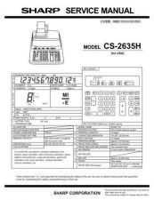 Buy Sharp CS-2130 Technical Information by download Mauritron #232814