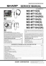 Buy Sharp MDMT15-C-H-W-161E-18H Service Manual by download Mauritron #210018