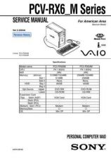 Buy Sony PCV-RX5 SERIES Service Manual. by download Mauritron #243470