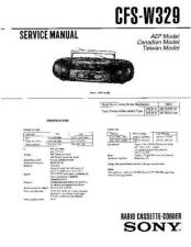 Buy Sony CFS-W329 Service Manual by download Mauritron #238982