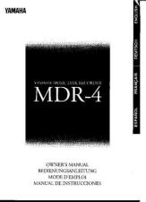 Buy Yamaha MDR4E Operating Guide by download Mauritron #248674