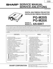 Buy Sharp PGM20 Service Manual by download Mauritron #210178