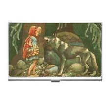 Buy Little Red Riding Hood Big Bad Wolf Business Credit Card Holder
