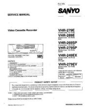 Buy Fisher. VHR-289E Service Manual by download Mauritron #218832