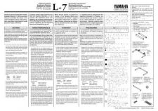 Buy Yamaha L7E Operating Guide by download Mauritron #248319