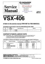 Buy PIONEER VSX406 RRV1751 Technical Information by download #119386