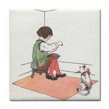 Buy Little Jack Horner Rhyme Vintage Art Ceramic Tile