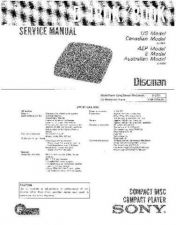 Buy Sony D-155 Service Manual by download Mauritron #239400