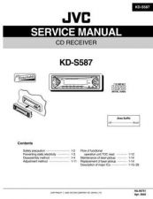 Buy JVC KD-S587 Service Manual Schematic Circuit. by download Mauritron #271509