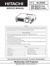Buy Hitachi CPL550 Service Manual by download Mauritron #260853