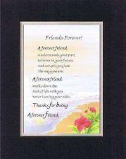 Buy Heartfelt Poem for Friendship - Forever Freind . . . on 11x14 Double Matting