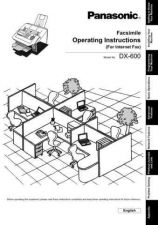 Buy Panasonic DX600 Operating Instruction Book by download Mauritron #236004