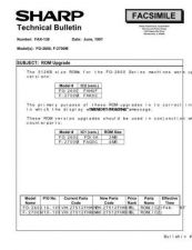 Buy SHARP FAX_INF_007 TECHNICAL BULLETIN by download #104315