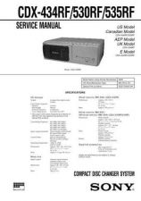 Buy Sony CDX-434RF530RF535R Service Manual by download Mauritron #237457