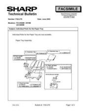 Buy SHARP FAX262 TECHNICAL BULLETIN by download #104428