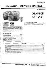 Buy Sharp XL510H-CP510 Service Manual GB by download Mauritron #220829
