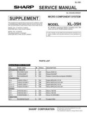 Buy Sharp. XL35H_SM_SUPPLEMENT_GB(1) Manual by download Mauritron #212088