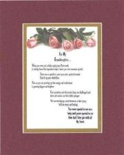 Buy Heartfelt Poem for Daughters – For My Granddaughter Poem on 11x14 Maroon on Go